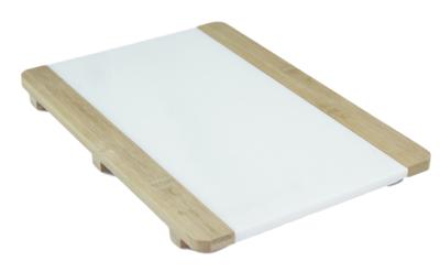 Presenteerplank JEROLD - Marmer / Bamboe - 22x31cm