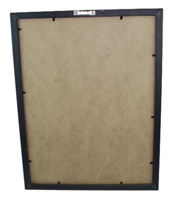 Prikbord en punaises met zwarte omlijsting Jenny - 43x33x2 cm