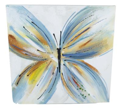 Schilderij Vlinder - handgeschilderd - 38x38cm