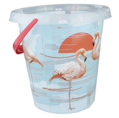 Emmer Flamingo - Transparant - 12 Liter - Ø 30 cm