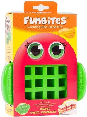 FunBites - Groen - Fruitsnijder - Kind - Vierkante stukjes