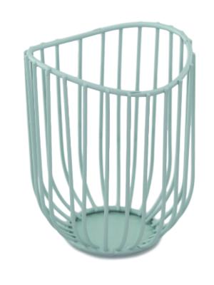 Theelichthouder Miriam - Set van 2 - Groen - Metaal - Ø8.5x11.5cm