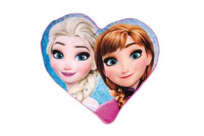 Disney Frozen vormkussen in hartvorm - Paars/Blauw - 33x30x5cm