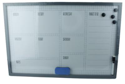 Weekplanner Memobord incl. Magneet & Marker Joep - Whiteboard - Week Planner - Weken - Magneet bord - Schrijfbord - 60x40cm