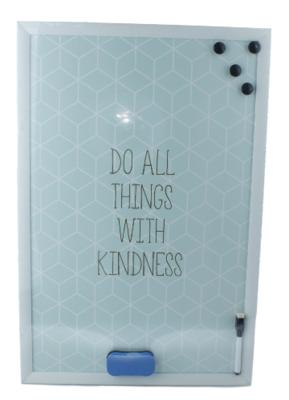 Memobord incl. Magneet & Marker Kamiel - Whiteboard - Magneet bord - Schrijfbord - 40x60cm