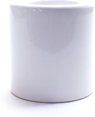 WC borstel ARJAN - Keramiek - Wit - RVS - Toiletborstel in Ronde Houder