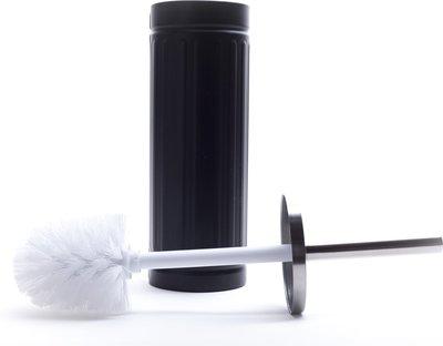 WC Borstel + houder FERDINAND - Zwart / RVS - 38 x 9 cm - Toiletborstel