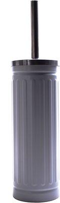 WC Borstel + houder FERDINAND - Grijs / RVS - 38 x 9 cm - Toiletborstel