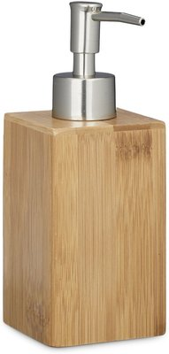Bamboe Zeeppompje / dispenser - 7 x 7 x 17 cm