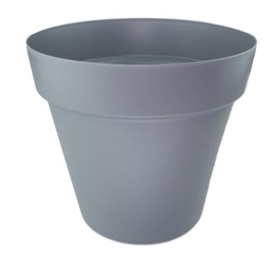 Bloempot JEROME (Maat M) - Grijs - Ø25 cm - 22 cm hoog - Rond