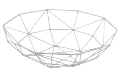 Draad decoratiemand / Fruitmand Aniek - Metaal - Roze - 37.5x11cm