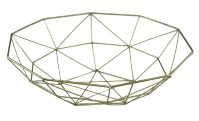 Draad decoratiemand / Fruitmand Aniek - Metaal - Goud - 37.5x11cm