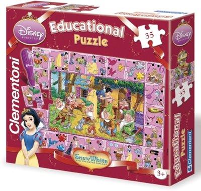 Disney Sneeuwwitje interactieve puzzel - 35 stukjes