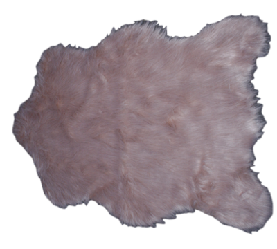 Schapenvacht WILLEKE - imitatie bont - Oud roze - 68 X 100 CM