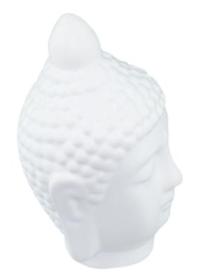 Beeld boeddha hoofd RAMESA - Wit - 18 cm