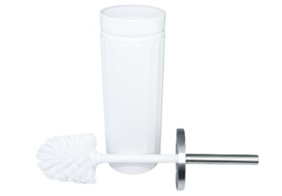 WC Borstel + houder FERDINAND - Wit / RVS - 38 x 9 cm - Toiletborstel