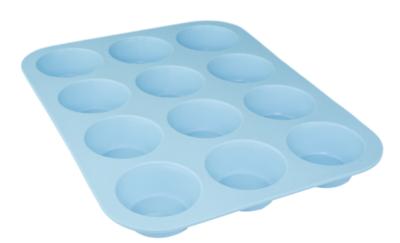 12-Muffinbakvorm PUCK - Lichtblauw - Siliconen