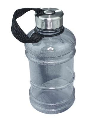 Waterfles 1L  - Zwart / Zilver - Kunststof - Drinkfles