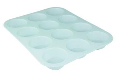 12-Muffinbakvorm PUCK - Groen - Siliconen
