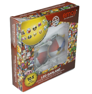 Emoji Led slinger - 10 lampjes - Multicolor