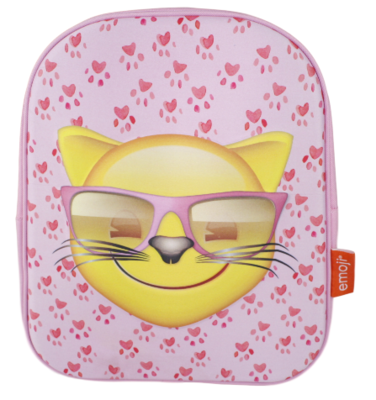 Emoji - Cool Cat Rugzak - 32 cm hoog - Leuke kat met zonnebril