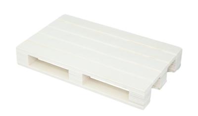 Houten pallet serveerplank - Ecru - Hout - 20x12x3cm