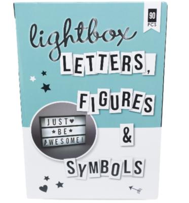 Lightbox / letterbox Letter set - Zwart - Figuren - Symbolen