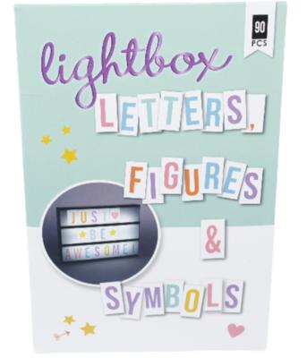 Lightbox / letterbox Letter set - Pastel kleuren - multicolor - Figuren - Symbolen