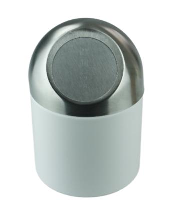 Tafelafvalbak EWOUD - Wit/Zilver - RVS - Afvalbak - Table bin - Mini Prullenbak