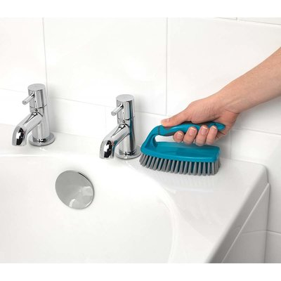 Reinigingsset - 5 Delig - Stoffer en blik - Schrobborstel - Afwasborstel - Bezem