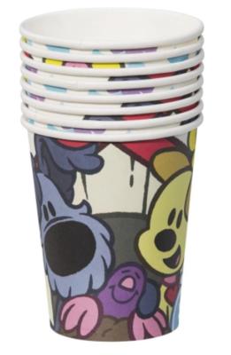 Woezel en Pip bekers - Multicolor - 8 stuks - 250ml