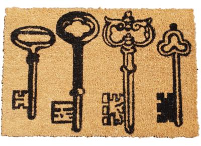 Deurmat met tekst SUZANNA - Kokosmat - Sleutels - 39 x 59 cm