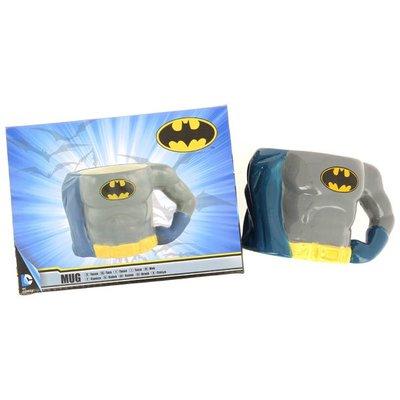 3D Batman Mok - Grijs/Blauw/Geel - Porselein - Beker
