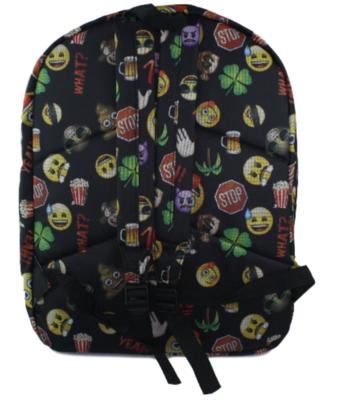 Emoji rugzak - Zwart - 45 cm hoog