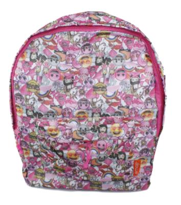 Emoji rugzak - Roze - 45 cm hoog