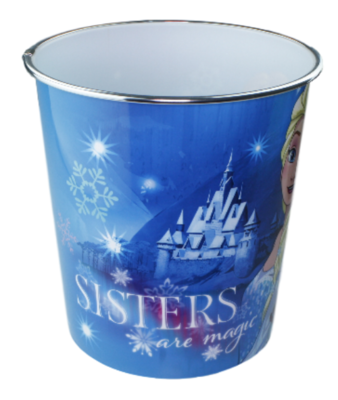 Kinder Prullenbak Frozen - Blauw - Ø20,5x22cm - Prullenmand