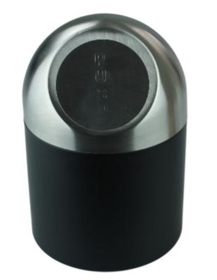 Tafelafvalbak EWOUD- Zwart/Zilver - RVS - Afvalbak - Table bin - Mini Prullenbak