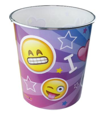 Kinder Prullenbak Emoji Unicorn - Multicolor - Ø20,5x22cm - Prullenmand