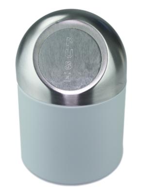 Tafelafvalbak Ewoud- Aqua Blauw/Zilver - RVS - Afvalbak - Table bin - Mini Prullenbak