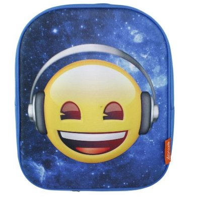Emoji met headphones Rugzak - 32 cm hoog