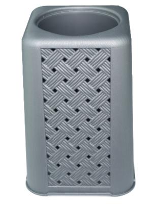 WC borstel + houder ALFONS - Grijs - Kunststof - 40 x 13 cm - Toiletborstel