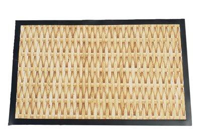 Deurmat met rotan patroon - 75x45cm - Schoonloopmat