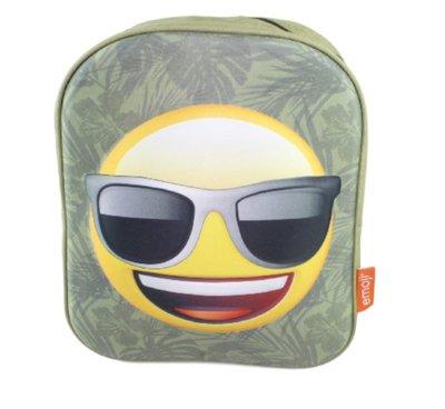 Emoji met sunglasses Rugzak - Groen - 32 cm hoog