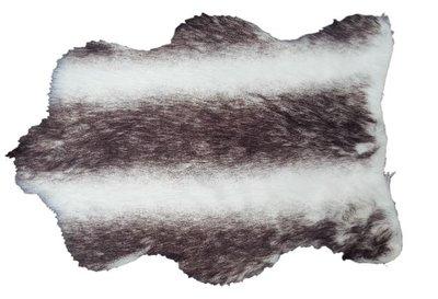 Konijnenvacht Janneke - imitatie bont - Wit/Zwart - 27.5 x 40cm