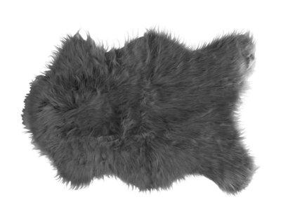 Kleine schapenvacht - imitatie bont - Grijs - 40X60CM