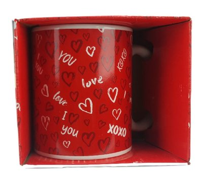 Mok - XOXO - Love - Rood/Wit - Beker
