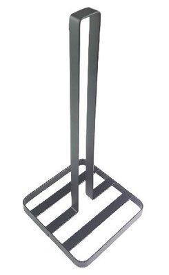 Keukenrolhouder met standaard RALPH - Zwart - Metaal - 32,5cm