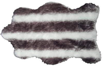 Kleine schapenvacht HEIKE - imitatie bont - Zwart/Wit - 45X70 cm