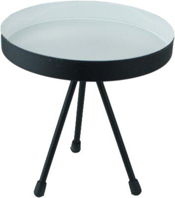 Kaarsen / vazen tafeltje HARMKE - Zwart/Wit - Metaal - H15 x Ø15cm