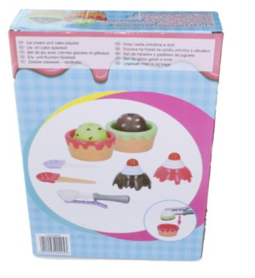 Ijs en cake maker speelset - 9 delig - Kunststof